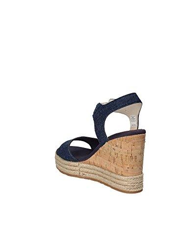 assn s Bleu T2 Femmes compensées U Sandales FIAMA4035S8 polo q7Hwn6Sa4