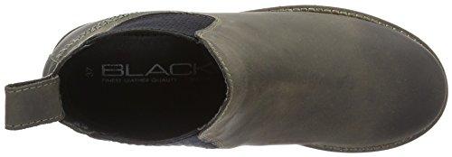 Unbekannt Leder-Stiefelette, Botines para Mujer Gris - Grau (250 DK. GREY LD)