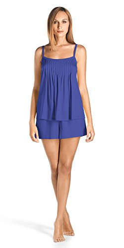 Hanro Women's Juliet Short Pajama Set, Electric Blue, X-Small