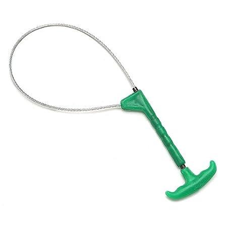 GOZAR Hog Catcher Plateado Acero Inoxidable Rod Control Cable Cerdo Herramientas De Captura Negro