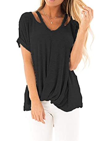 98b2f9065803 Barlver Women's Casual T Shirts Summer Tunics Tops