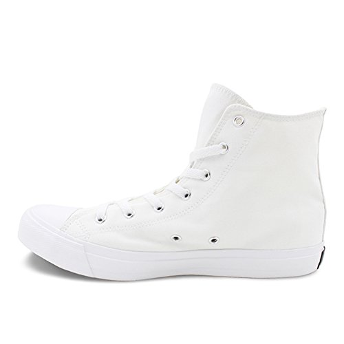 for Canvas White Honeystore Plus High Size Women up Sneakers Top Lace Shoes Flats Animal and F Unisex Men Print TpPOH