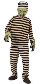Convict Zoombie Dress Up Costume Halloween Party Sz Small (Zoombie Costumes)