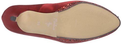 zapatos MenburBelerda cerrados Rojo tacón rojo de rojo Mujer Sdqpqa