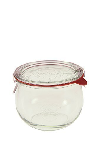 Weck 744 1/2L Tulip Jar Set of Six - 16.9 Ounce (Weck Canning Jars)