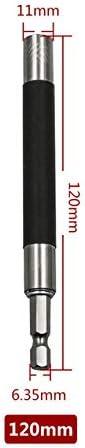 """1/4""""六角シャンククイックリリースビットヒント磁気ドライバービットセットホルダーアダプタヘッド 80/120/140 ミリメートル修理電話ラップトップ-120mm"""