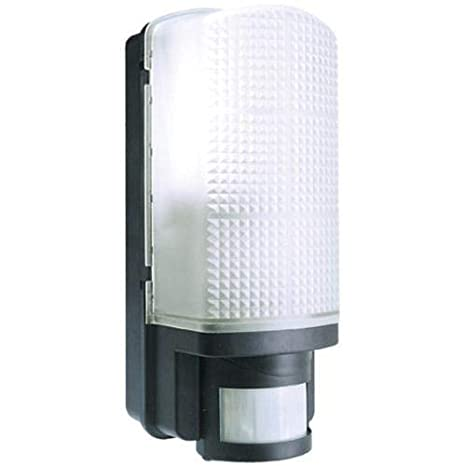 on sale 78980 a8eb1 Black Outdoor Bulkhead Security Wall Light IP44 Complete With PIR Motion  Sensor