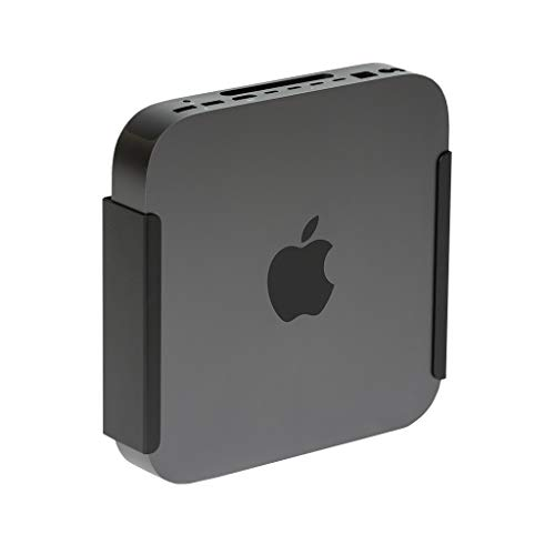 HIDEit Black MiniU Mount - US Patented Mac Mini Wall Mount, VESA Mount, Under Desk Mount - Made in The USA (Best Monitor For Apple Mini)