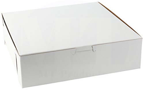MT Products Tray Clay-Coated Kraft Paperboard Non-Window Lock Corner Bakery Box, 9