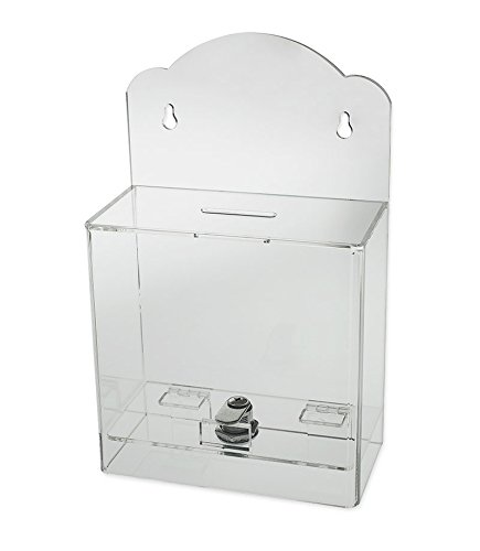 amazon com source one clear face donation box ticket box