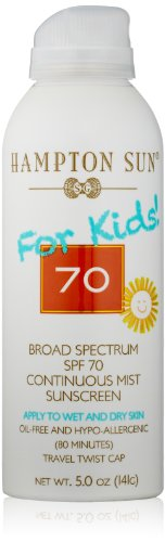 (Hampton Sun SPF 70 for Kids Continuous Mist Sunscreen, 5 Oz)