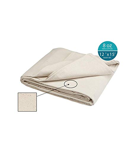 Simpli-Magic 12'x15' 79113 Canvas Drop Cloth (Size: 12' x 15') for All Purpose Use, Ideal for Floor Protection, Curtains, DIY Projects and Furniture (Patio Drop Curtains Cloth)