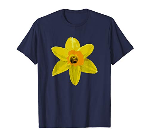 Daffodil / Spring Flower / Poster Print Style Design T-shirt