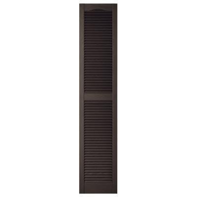 Mid-America 15x72 Black Louvered Shutter by Mid-America by Mid America