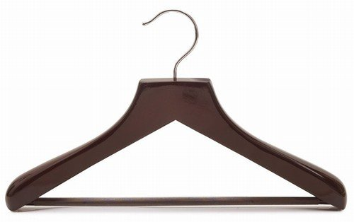 Only Hangers Petite Size Wooden Suit Hangers, Walnut Finish Box of (6)
