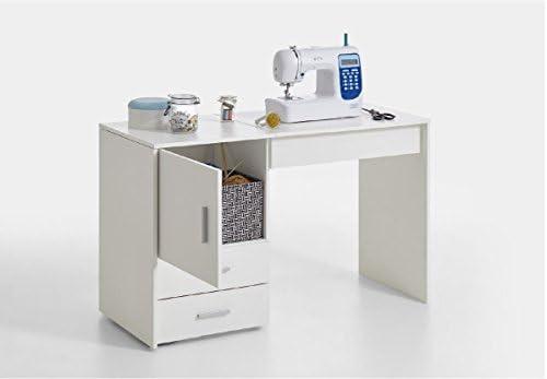 RONZ® Clara - Mueble de mesa para máquina de coser, color blanco: Amazon.es: Hogar