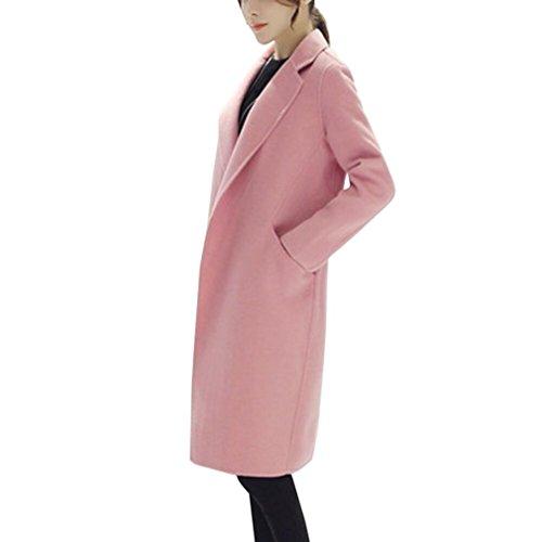 Knit Bed Jacket (HOT SALE, AIMTOPPY Womens Autumn Winter Jacket Casual Outwear Parka Cardigan Slim Coat Overcoat (L, Pink))