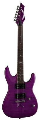 Dean Guitars Custom 350 Flame Maple Electric Guitar, Trans Power Purple, C350 TPP by Dean