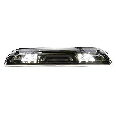 Sanzitop LED 3rd Brake Light Cargo Lamp Rear Tail Light for 2014-2020 GMC Sierra/Chevy Silverado 1500, 2015-2020 GMC Sierra/Chevy Silverado 2500HD 3500HD 23509162 Chrome Housing Smoke Lens: Automotive