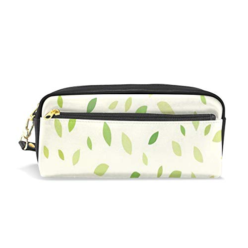 Pencil Case/Makeup Bags Abstract Falling Leaves Big Capacity Portable Pencil Bag for College Students/Women/Adults