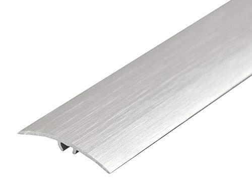 Brushed Anodised Aluminium Door Floor Transition Strip 41mm x 0.9M (2.95ft) Threshold Carpet Cover Trim Push-in TMW…