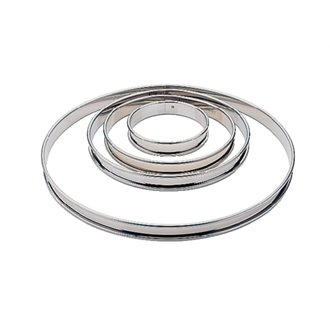 Matfer E646 Plain Flan Ring, 2 cm deep