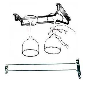new 16 inch long wine glass rack wire hanging rack wine - Hanging Wine Glass Rack
