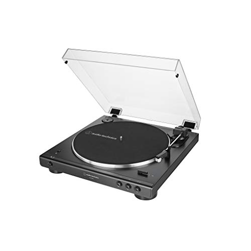Audio-Technica AT-LP60XBT-BK Fully Automatic Bluetooth Belt-Drive Stereo Turntable, Black, Hi-Fidelity, Plays 33 -1/3 and 45 RPM Vinyl Records, Dust Cover, Anti-Resonance, Die-cast Aluminum Platter (Best Hi Fi In The World)