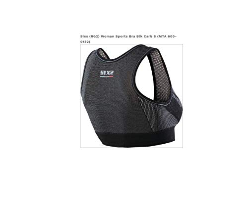 SIXS Women's (600-0133) Sports Bra Underwear (Black Carbon, Medium) by SIXS