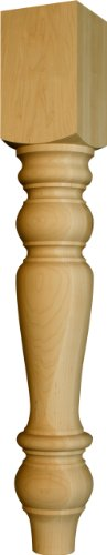 table pedestals in Soft Maple - Dimensions: 34 1/2 x 5 - Pedestal Maple Unfinished