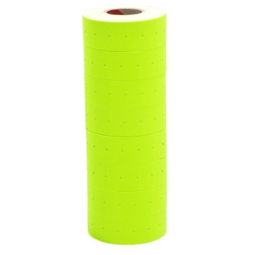 10 Rolls Yellow Fluorescent Color 10000 Price Labels Paper Fr Mx-5500 Price Gun Labeller (Colour 5500)