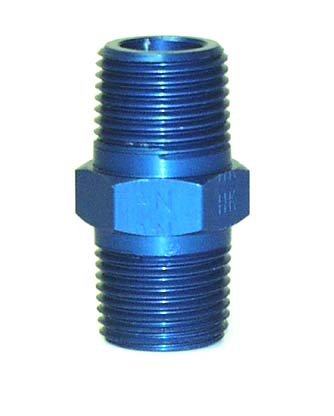 NEW SOUTHWEST SPEED ANODIZED ALUMINUM MALE PIPE NIPPLE, 1/8'' NPT MALE TO 1/8'' NPT MALE COUPLER FITTING UNION