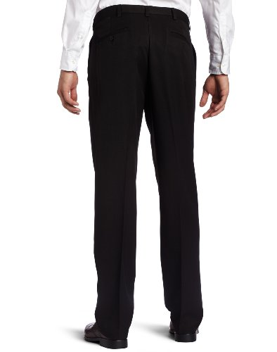 Haggar Men's Cool 18 Heather Solid Pant - Regular - 40W x 29L - Black by Haggar (Image #2)