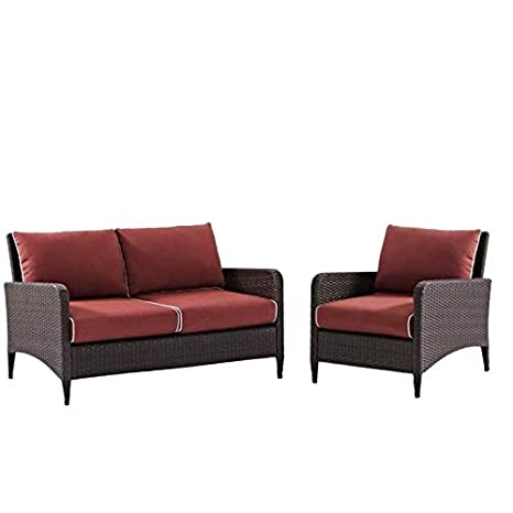 Amazon.com : Home Square 2 Piece Patio Sofa Set with ...