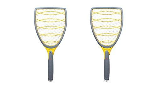 Portable Zapper Racket, Grey Insect Killer Set of 2 Powerful 3000 volts (Lentek Mosquito Trap Propane Tank)