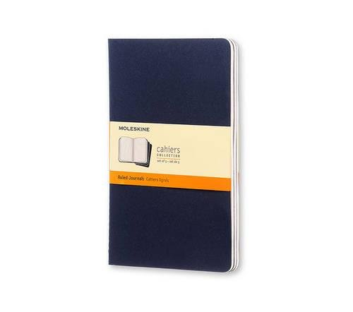 Set of 3 Cahier Large Ruled Journals, Blue Cover (Moleskine Srl)