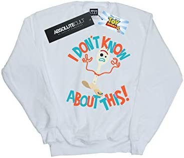 Disney Herren Toy Story 4 Forky I Don't Know About This Sweatshirt Weiß Small