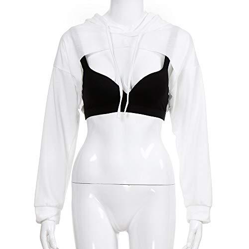 Capuche Sweat Beikoard Blanc Shirt Femmes Shirt Femmes T Capuche T Creux pour Shirt à Short Hors La à Tops à Sweat Mode Mode ffSwvrq7