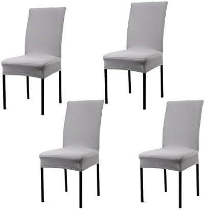 Fundas para sillas pack de 4 fundas sillas comedor fundas elásticas, Lavable Extraíble cubiertas para sillas el comedor casero Modern Bouquet de la boda, Hotel, Decor Restaurante (Gris): Amazon.es: Hogar