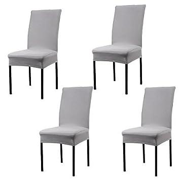 Fundas para sillas pack de 4 fundas sillas comedor fundas elásticas, Lavable Extraíble cubiertas para sillas el comedor casero Modern Bouquet de la ...