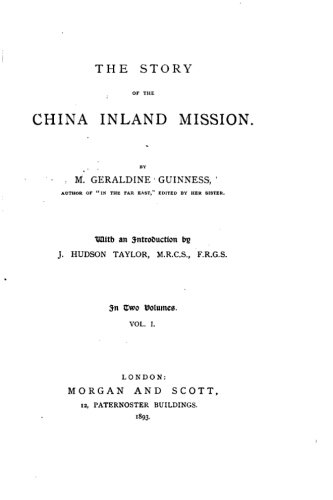 Read Online The Story of the China Inland Mission pdf