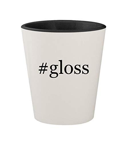#gloss - Ceramic Hashtag White Outer & Black Inner 1.5oz Shot Glass