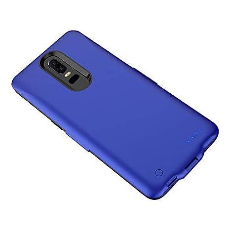 OnePlus 6 OnePlus 6T Funda de batería, Externa 6500mAh batería de Reserva 1 + 6/1 + 6T Cargador de batería Azul