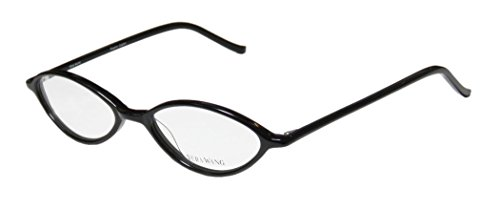 Vera Wang V18 Womens/Ladies Designer Full-rim Eyeglasses/Eyeglass Frame (49-17-136, Black)