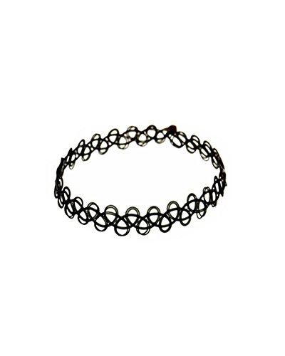 Young & Forever Women's Diwali Special Tattoo Choker Anklet Black by Young & Forever