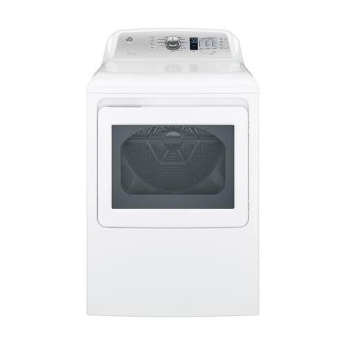 GE GTD65EBSJWS Aluminized Alloy Drum Electric Dryer with HE Sensor Dry, 7.4 Cu. Ft. Capacity, White, ()