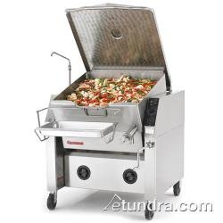 Market Forge 40P-STGL Gas Tilting Skillet 40 Gallon Capacity with Open Leg Frame Base & Manual Tilt