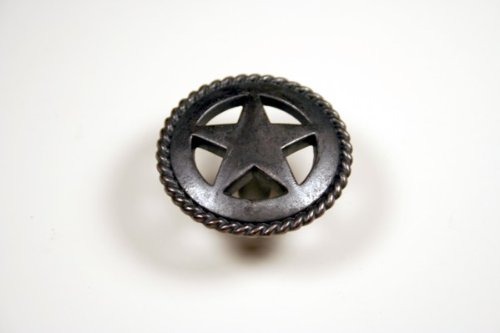 Star Hardware (Western Star Knob with Rope Detail in Oil Rubbed Bronze)