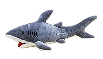 Tickles Shark Soft Toy Stuffed Soft Plush Toy for Kids (Grey)