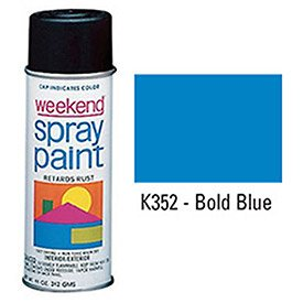 Krylon Industrial Weekend Economy Paint Bold Blue - Lot of 6